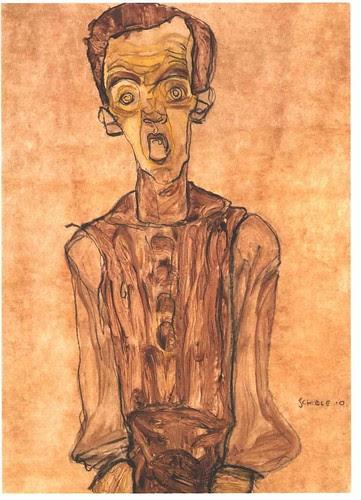 "Egon Schiele ""Selbstbildnis"" / ""Self-portrait"" by KUUNSTKUULTUR"