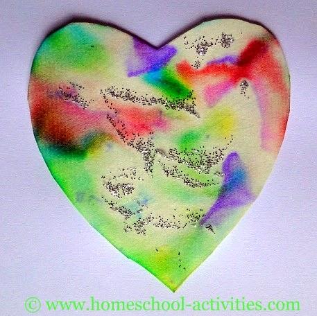 Preschool crafts for kids valentine 39 s day pastel heart for Valentine craft for kindergarten