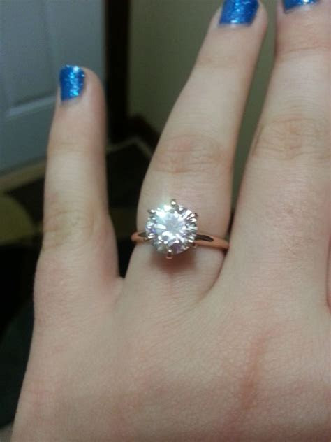 my BEAUTIFUL Forever Brilliant Moissanite Rose Gold