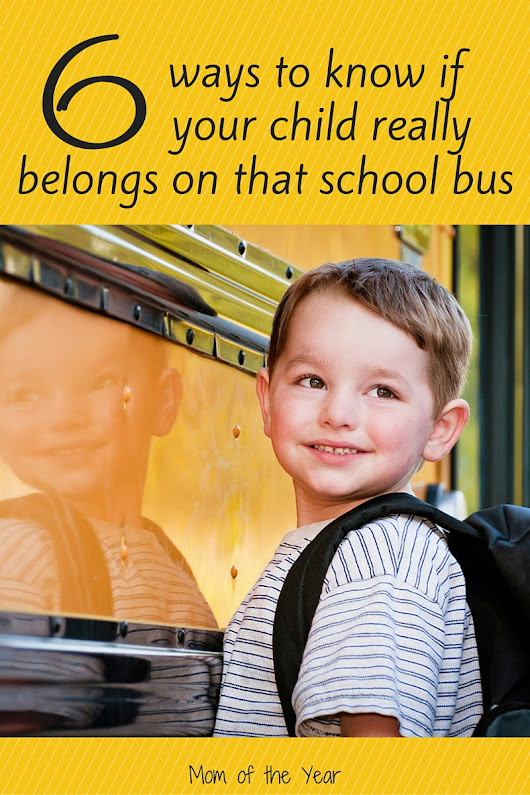 The School Bus Dilemma - The Mom of the Year