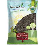 Food to Live Organic Wild Rice Raw, Long Black Whole Grain, Non-GMO, Bulk (by ) 5 Pounds