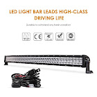 AUXBEAM Off-Road Curved LED Light Bar 50 inches, Power of 288W, 28800lm, Voltage of DC 10~30V (for 12V/24V Vehicles)