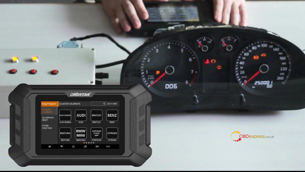 Obdstar Odo Mästare VW Passat vägmätare Correction 01