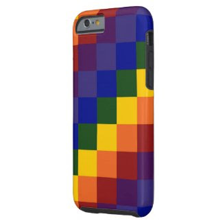 Checkered Rainbow Barely There iPhone 6 Case