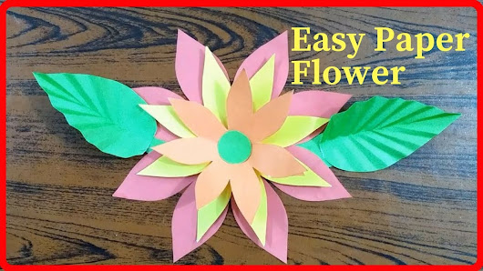 How to make easy paper flowers step by step httpsyoutu how to make easy paper flowers step by step easy paper flower tutorial paper craft diy mightylinksfo