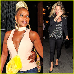 Mary J. Blige Grabs Dinner with Kate Moss in London