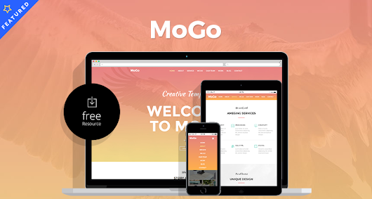 MoGo – Free One Page Web Template | Free HTML5 Templates
