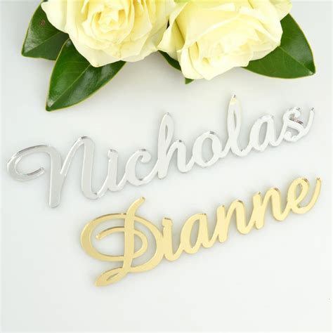 Laser Cut Acrylic Name Place Cards Decorations   Wedding