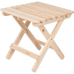 Shine Company Adirondack Square Folding Table - Natural