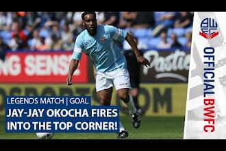 Video: Jay Jay Okocha scores hat-trick in Bolton legends match