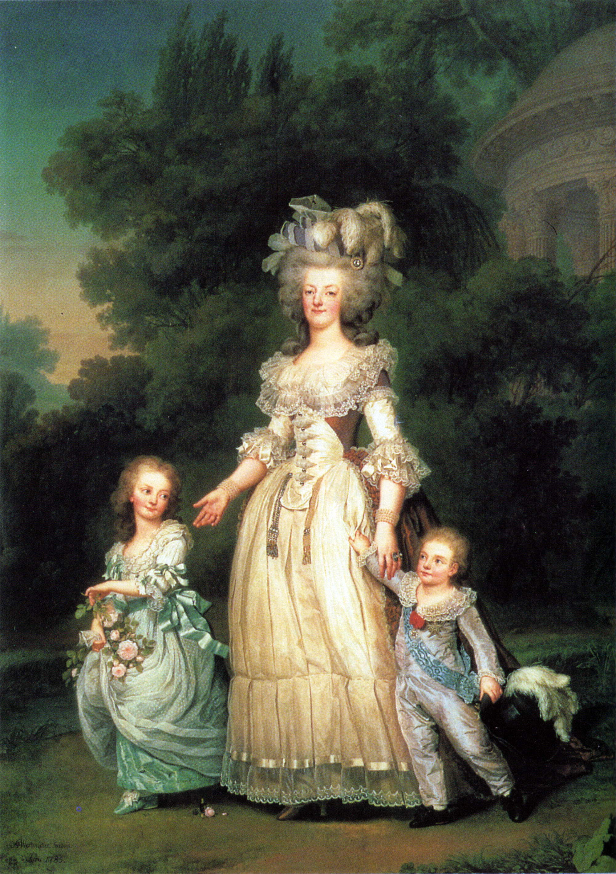 Adolf Ulrich Wertmüller: Queen Marie Antoinette of France with the Dauphin and a daughter princess