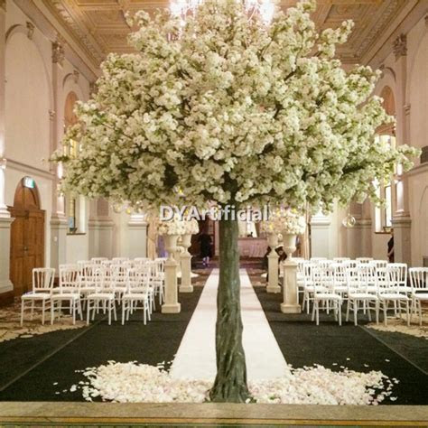 350cm White Color Artificial Cherry Blossom Wedding Tree