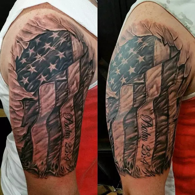 85+ Best Patriotic American Flag Tattoos — I Love USA (2019)