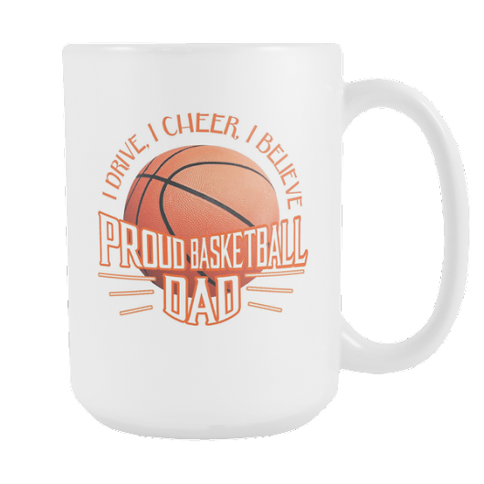 White Mug - Proud Basketball Dad
