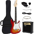 Best Choice Products Beginner Electric Guitar Bundle Kit, Brown