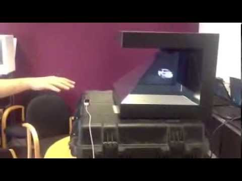 Amazing 3D Hologram Pyramid Pyramoid (3-sided Hologram) controlled by Leap Motion - LEAP Motion tech demos & experiments collection