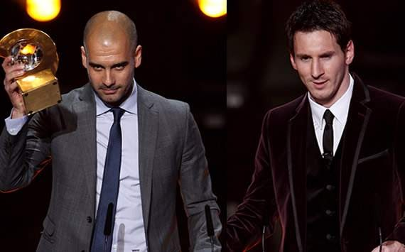 Messi PEP and Ibra