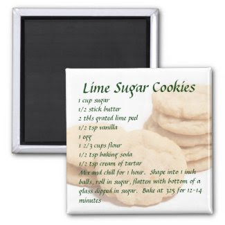 Lime Sugar Cookies Magnet