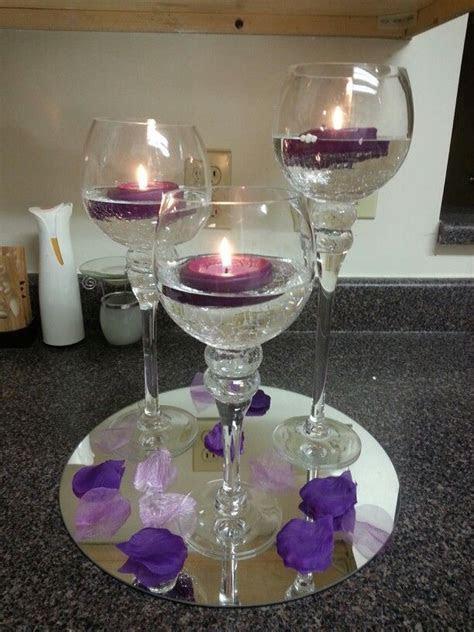 Purple wedding table centerpiece #Purple wedding