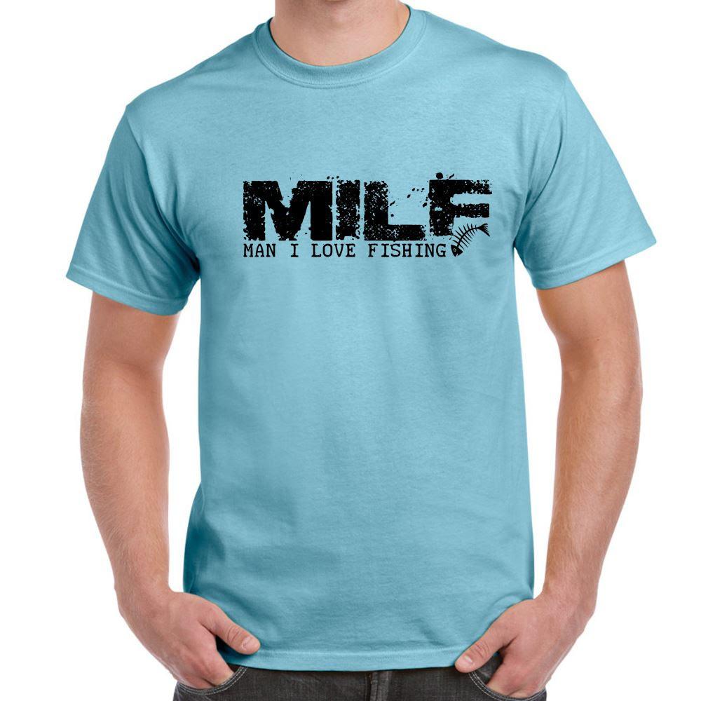 MILFMan I Love FishingtshirtMens Funny Sayings Slogans T Shirts  eBay