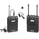Movo WMIC80 UHF Expandable Wireless Lavalier Microphone System with Lavalier Mic & Bodypack