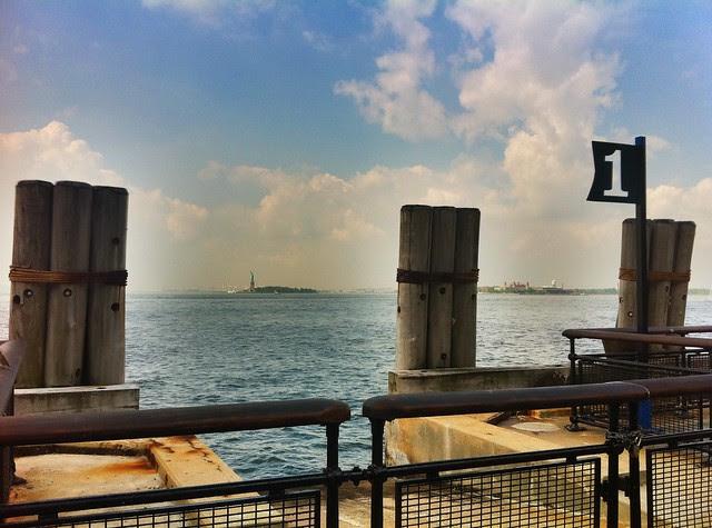 Battery Park, New York Harbor, Friday, August 26