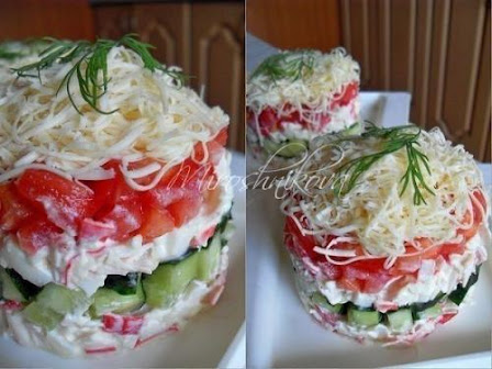 6 салатов с крабовыми палочками!