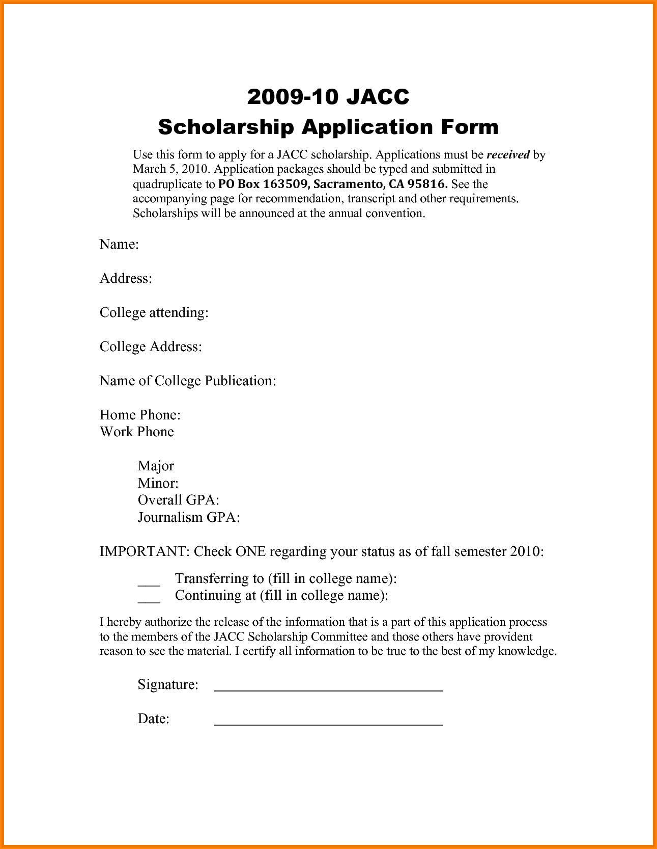 Sample Application Letter For Scholarship Grant | amulette