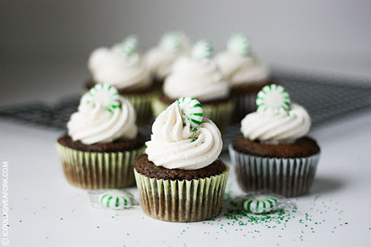 Chocolate Cupcake with Peppermint Buttercream