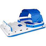 Bestway CoolerZ Tropical Breeze 6 Person Floating Island Pool Lake Raft Lounge by VM Express
