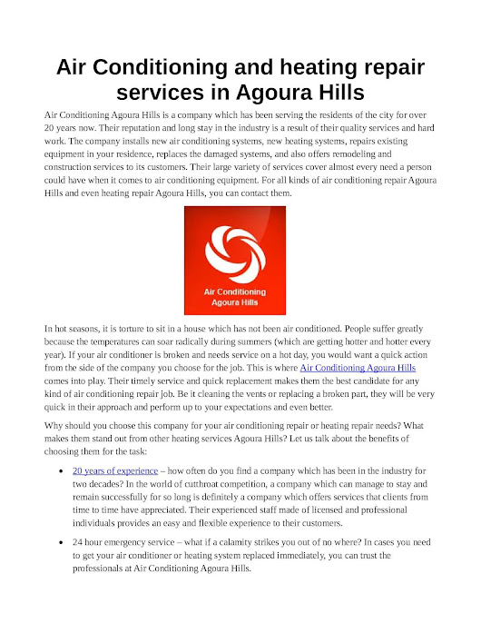 Air Conditioning Agoura Hills