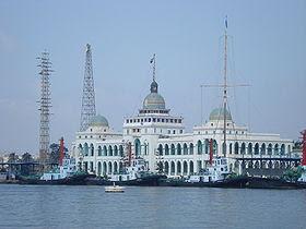 Port Said, on the Mediterranean coast