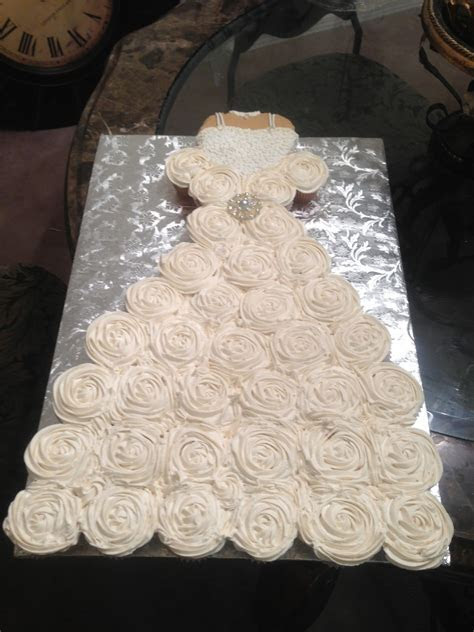 Cupcake Wedding Dress For A Bridal Shower Bodice Is A