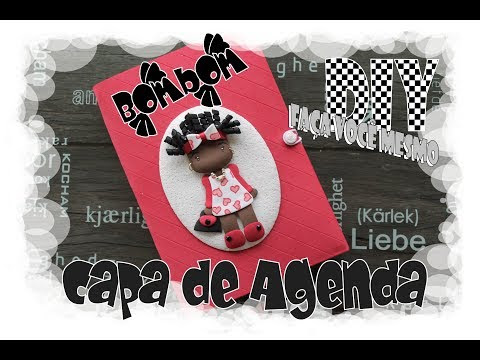 VÍDEO - DIY - Capa de Agenda Decorada / Decorated Diary Cover