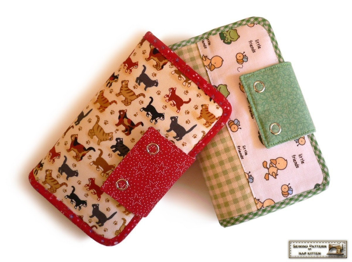 27 pockets wallets sewing pattern -- PDF