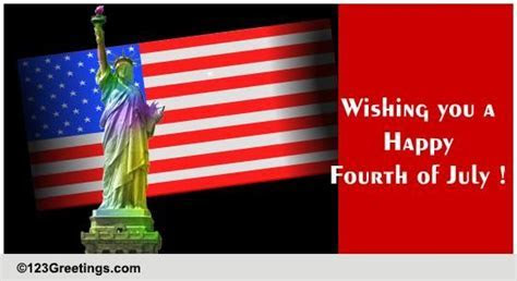 Wishing You A Happy Fourth of July! Free Fireworks eCards