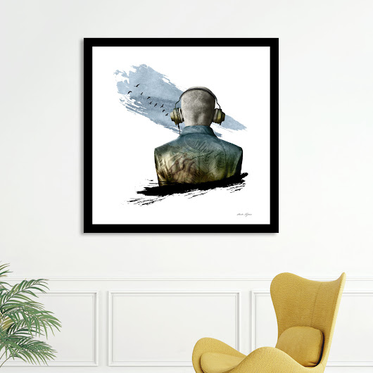 «In Flight», Numbered Edition Affiches d'art by Claude Peyrouse - From $20 - Curioos