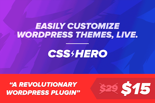 Easily Customize WordPress Themes with No Code Necessary - only $15!