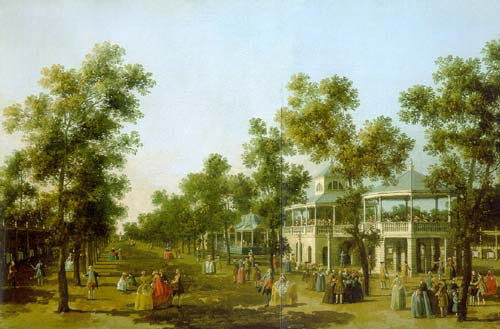 Caneletto painted this famous view of the Grand Walk in 1751.