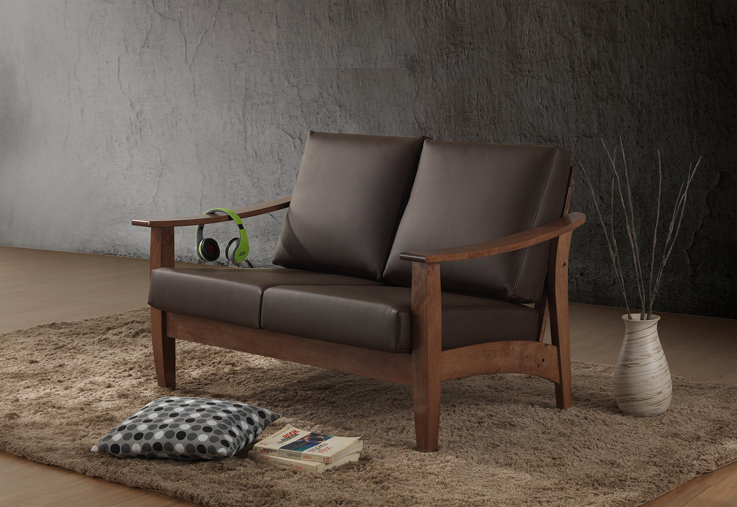 Baxton Studio Philbert Mid Century Modern Walnut Wood and ...