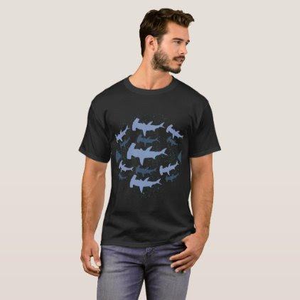Hammerhead Shark Marine Biology Art T-Shirt