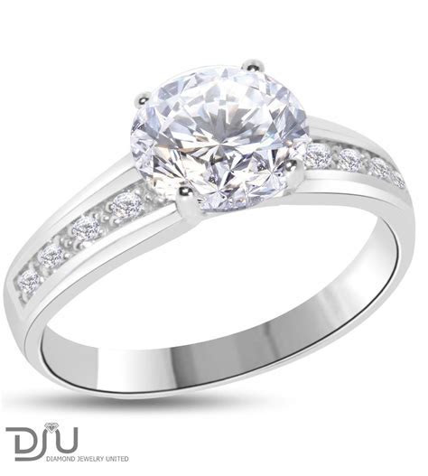 1.24 carat F VVS2 Round Solitaire Diamond Engagement Ring