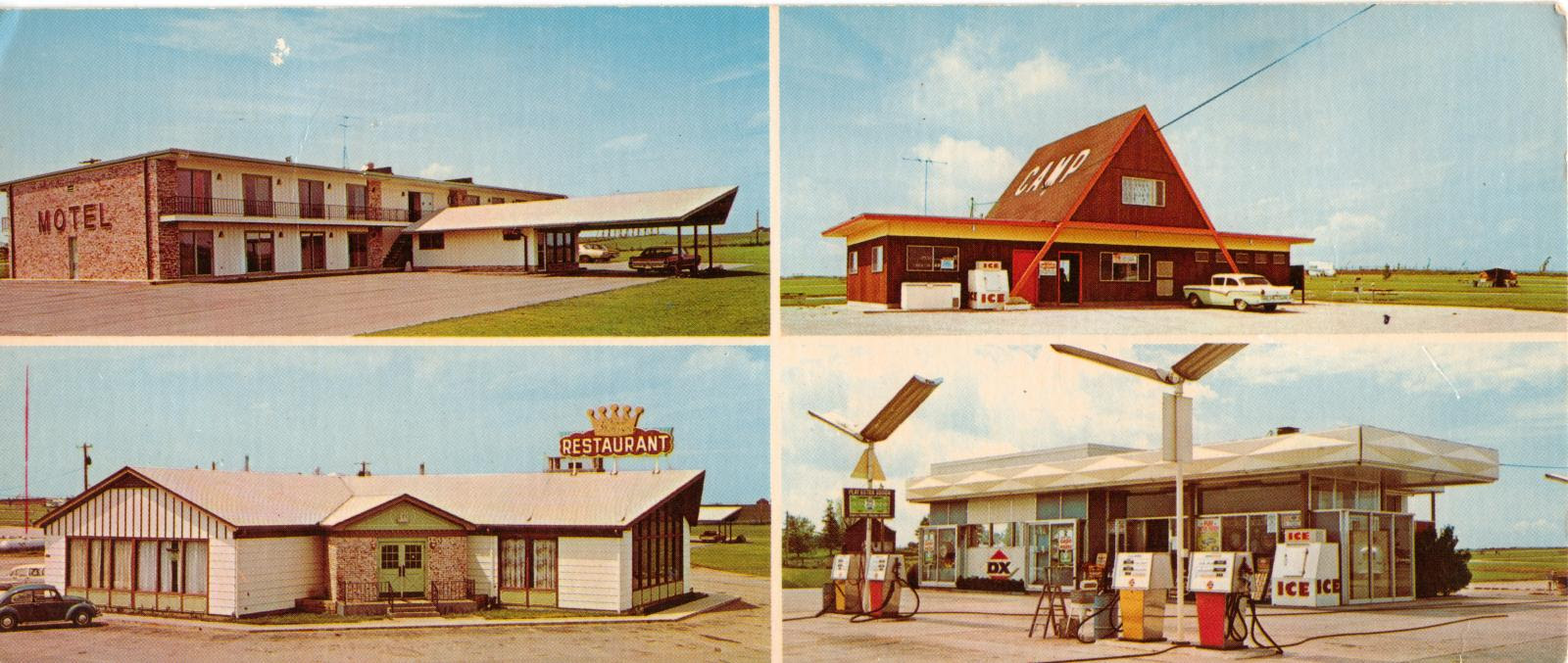 Iowa route 80 postcard 1972 road trip americana
