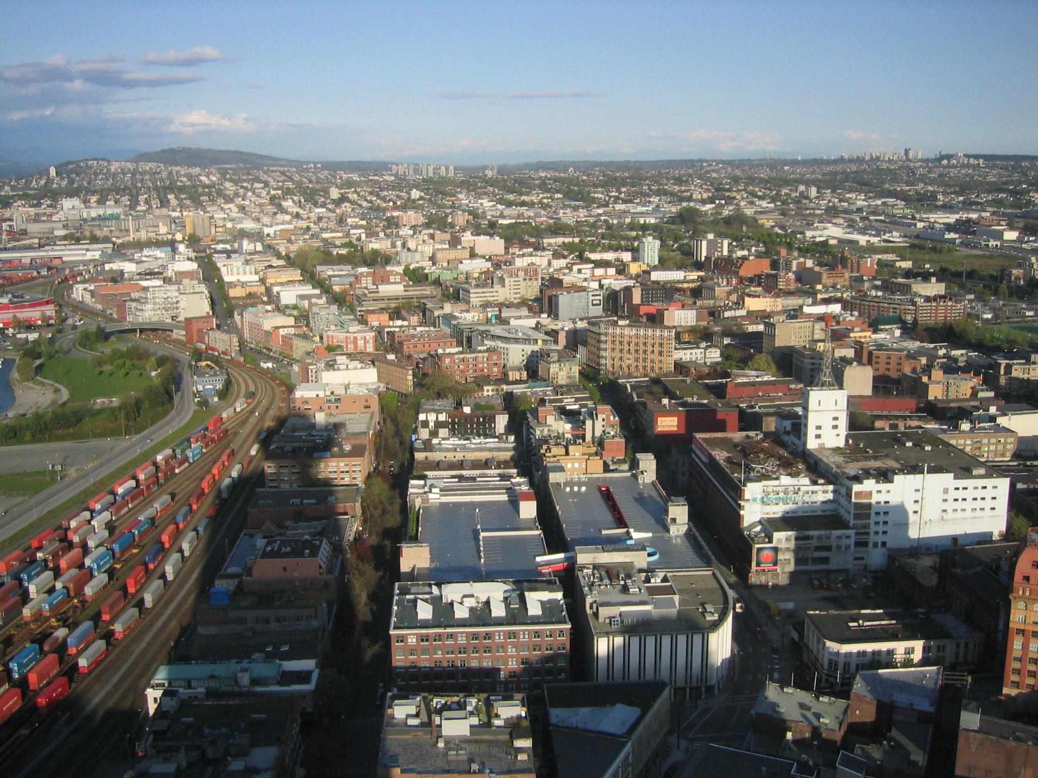 Aerial view of Gastown
