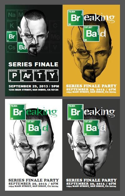 Breaking Bad Party Invitation // Unique by projecttwenty9 on Etsy