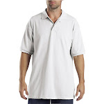 Dickies Adult Short Sleeve Pique Polo - White - Medium