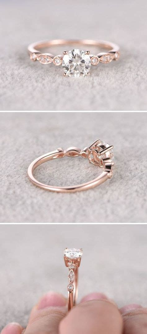 Moissanite in Rose Gold Engagement Ring www.pinterest.com