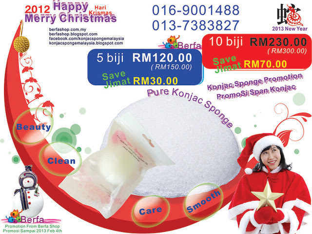 2012 Christmas Konjac Sponge English