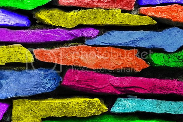 Colored Stone Wall [enlarge]