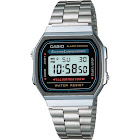 Casio Men's Classic Digital Electro Luminescence Bracelet Wrist Watch A168W1 - Silver